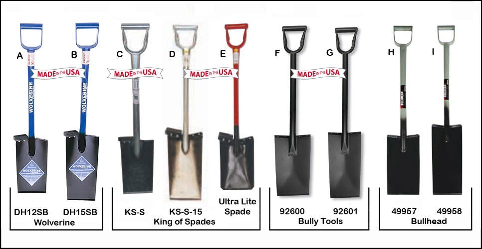 D Grip All Steel Spades Straight Blade